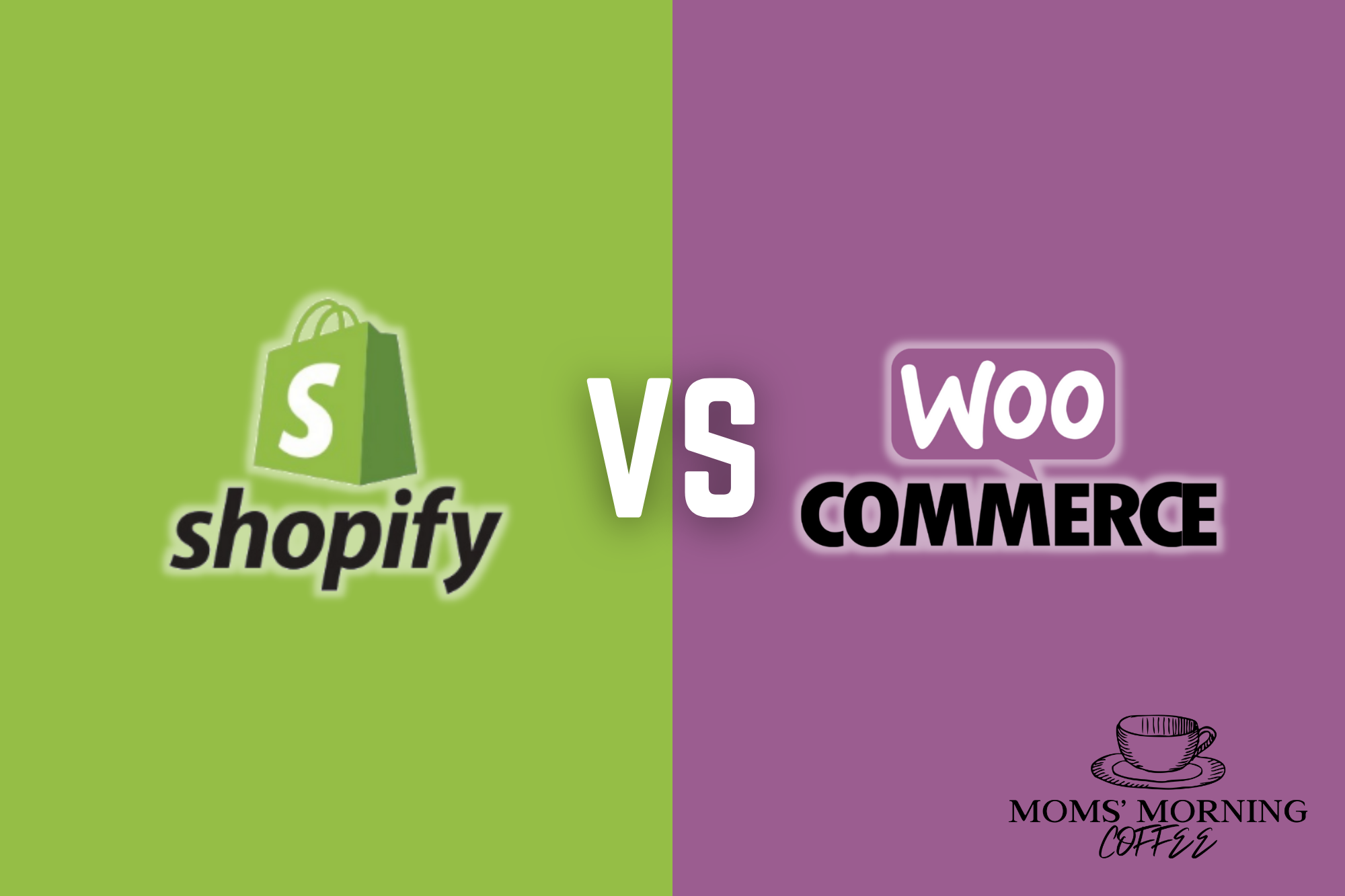 Shopify vs WooCommerce illustration